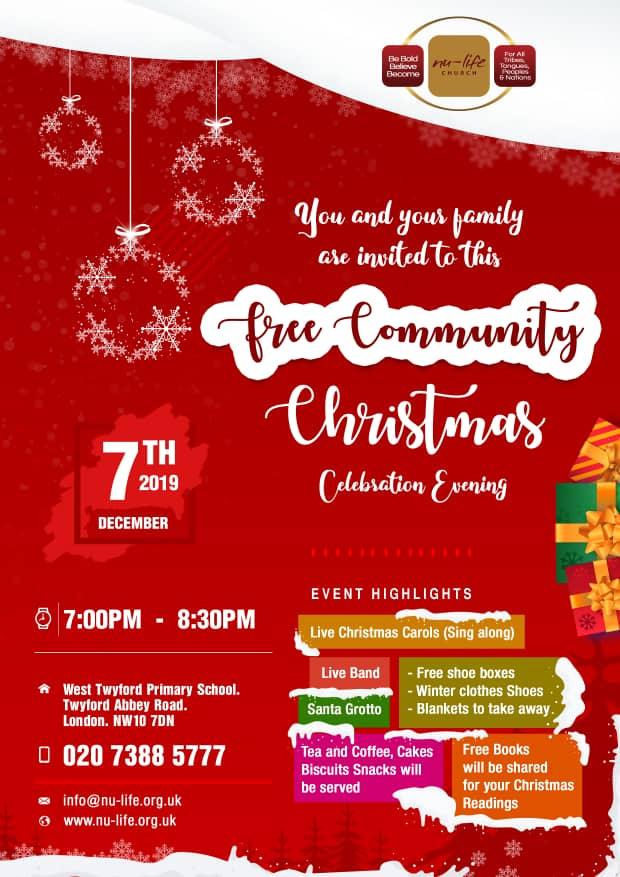Free Community Christmas Celebration @ West Twyford Primary Schoon